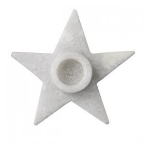 Bloomingville bougeoir étoile en marbre, large