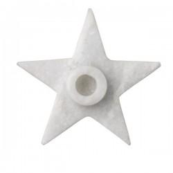 Bloomingville Marble Candleholder, Starshaped