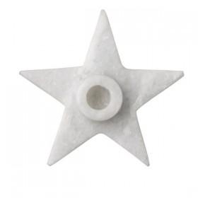 bloomingville bougeoir étoile en marbre, small