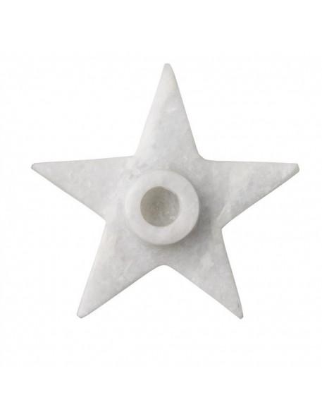 Bloomingville Marble Candleholder, Starshaped