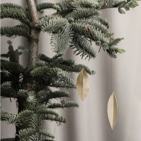 Ferm Living - brass leaf (x4) christmas ornament