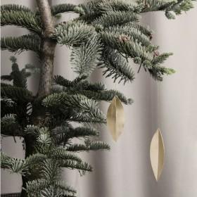 Ferm Living - Feuille laiton (x4) décoration à suspendre