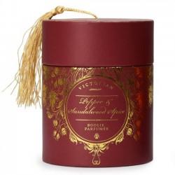 Victorian candle Sense tasselbox: pepper & santalwood