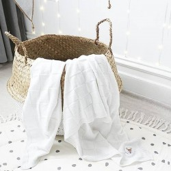 bloomingville basket white/natural seagrass