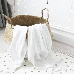 bloomingville panier boule blanc/naturel