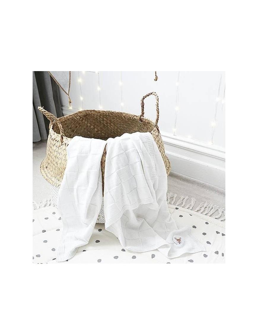 bloomingville basket white/natural seagrass