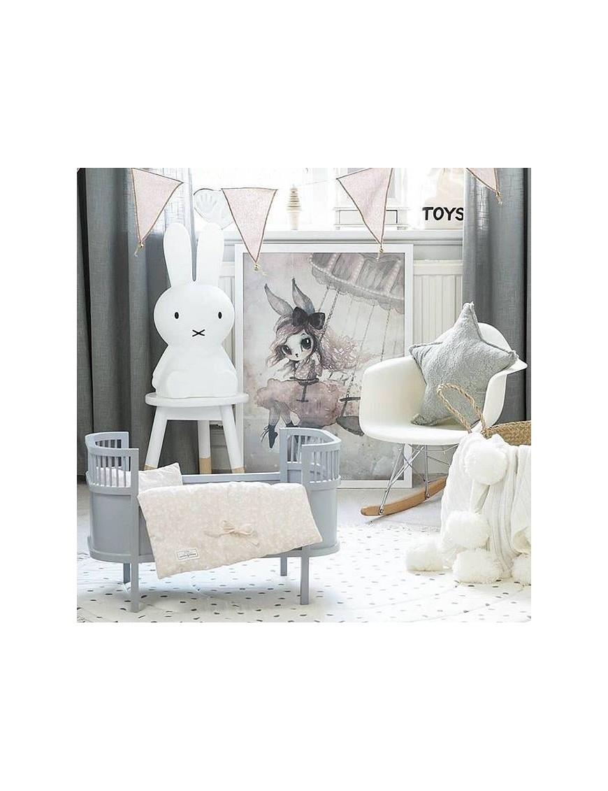 lit de poupée design gris clair - Smallstuff