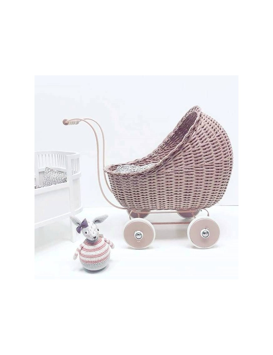vintage baby doll stroller : dusty pink - Smallstuff