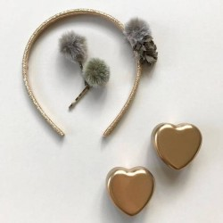 Petite boîte forme coeur, métal or - Maileg