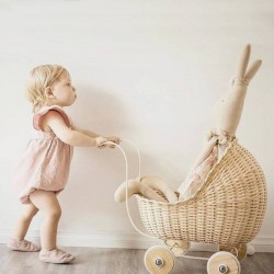 vintage baby doll stroller : natural - Smallstuff