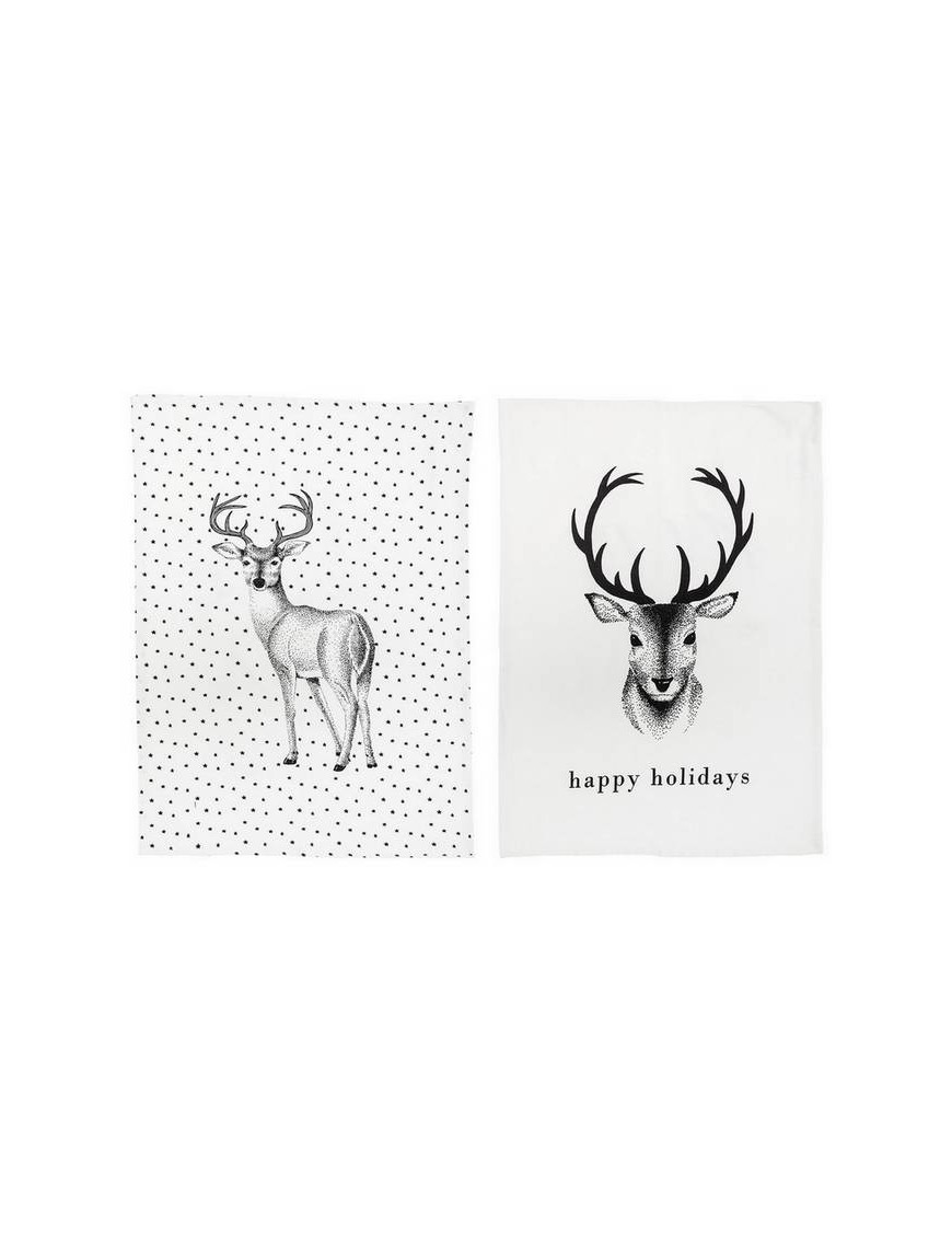 "BLOOMINGVILLE - Reindeer Kitchen towel ""Christmas"""