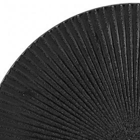 assiette noire mat