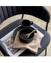 Assiette grès noir, Neri Ø23 cm - Bloomingville