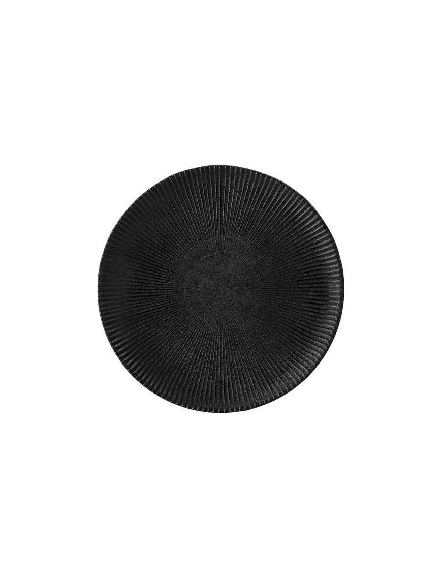 Petite assiette grès noir, Neri Ø18 cm - Bloomingville