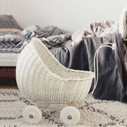 vintage baby doll stroller : white - Smallstuff