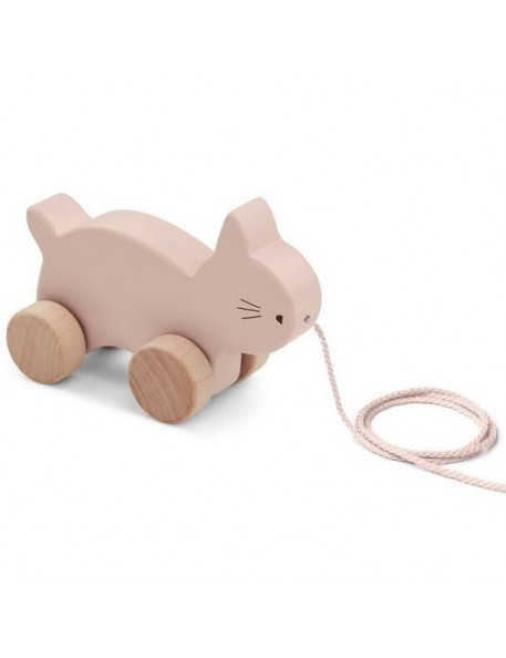 """Pull along toy : cat, rose """"Abby"""" - Liewood"""