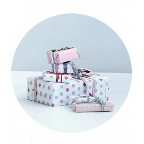 MAILEG - Giftwrap, multi dots (10m)