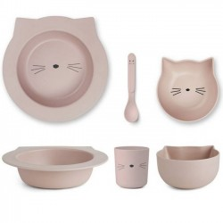 Liewood - bamboo tableware box set : cat