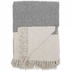Bloomingville cotton throw, gray