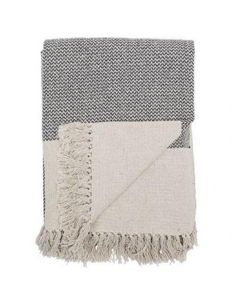 Bloomingville cotton throw, gray