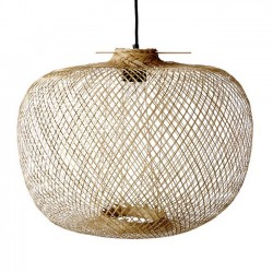Lampe suspension en bambou Bloomingville Ø42xH30 cm