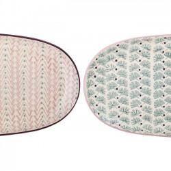 """plats de service en céramique, """"Maya"""" (x2), L34.5cm - Bloomingville"""
