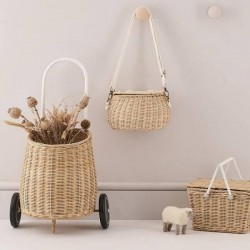 Olli Ella Luggy basket straw
