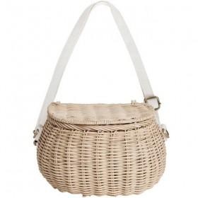 Olli Ella - mini chari bag : straw