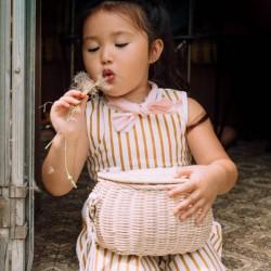 """Panier OLLI ELLA """"mini chari"""" : straw"""