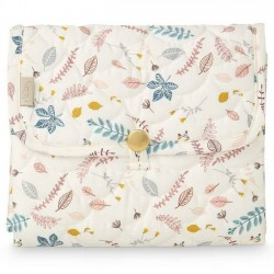 """CAMCAM changing mat """"pressed leaves, rose"""""""