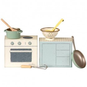 "Cuisinière micro ""Cooking set"" Maileg"