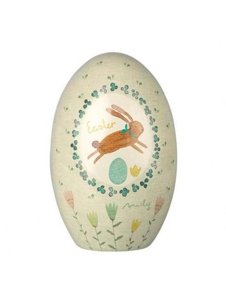Maileg bunny easter egg tin box - green