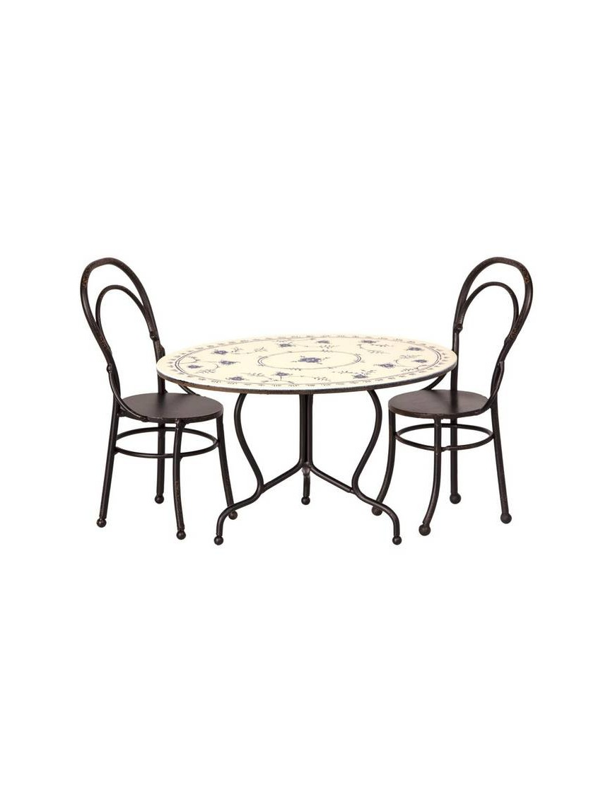 Table & chaises mini (x2), MAILEG