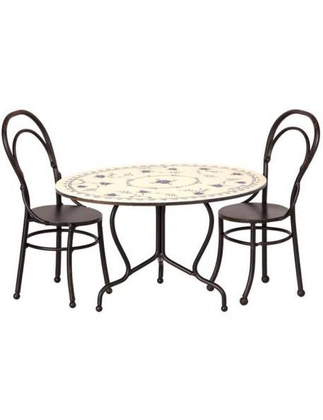 Table & chaises mini (x2), MAILEG