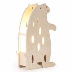 Lampe à poser ours - bois de hêtre