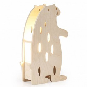 Bear wooden table lamp Miniwoo