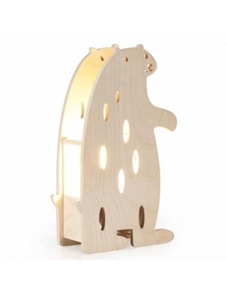 Lampe ours - bois de hêtre Miniwood