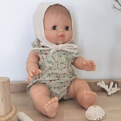 Baby girl doll : liberty romper & baby hat