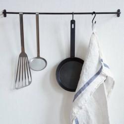 barre murale : porte serviette métal noir (51cm) - FOG LINEN WORK