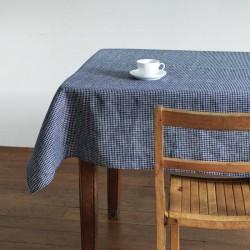 "Navy blue linen tablecloth ""Steph"" FOG LINEN - 130 x 130 cm"