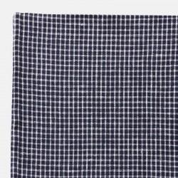 """Nappe lin bleu marine à carreaux """"Steph"""" (130x130cm)   FOG LINEN"""