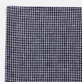 "Navy blue linen tablecloth ""Steph"" FOG LINEN - 130 x 130 cm"