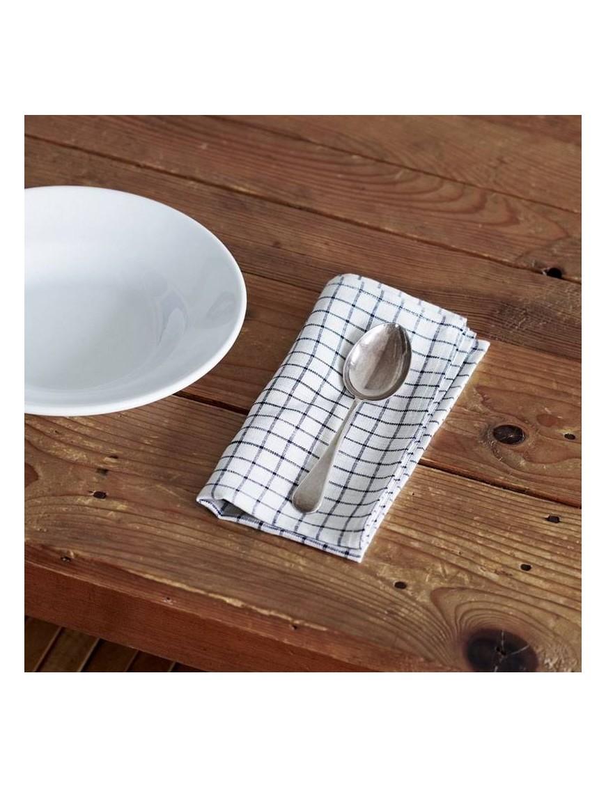 """Serviette de table en lin écru à carreaux """"Jenn"""" - FOG LINEN"""
