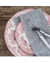 Serviette de table pur lin lavé: gris à rayures - FOG LINEN