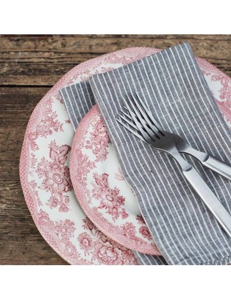 Linen napkin grey & white stripes FOG LINEN