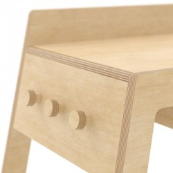 "Bureau enfant design en bois naturel :  ""Flex handy"" - Nuki"