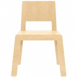 "Nuki Plywood chair ""Flex F"", natural"