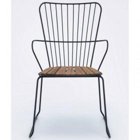 Chaise d'extérieur design noire