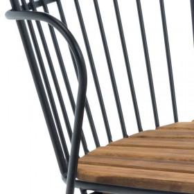 Chaise de jardin noire design