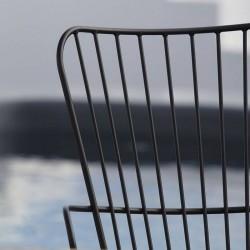 chaise extérieur design noire